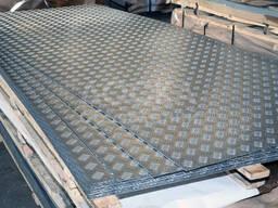 Алюминиевый лист гладкий и рифленый Квинтет любой толщины