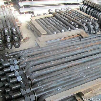 Анкерная тяга с накладками 63x290x75 мм 09Г2С СНиП 3-18-95