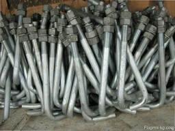 Болты фундаментные изогнутые тип 1. 1 12 мм М12 ГОСТ 24379. 1-