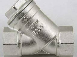 Фильтр сетчатый латунный для газа с магнитом