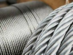 Канат стальной 5.7мм ГОСТ 3077-80 ЛК-О 6х19(1 9 9) 1