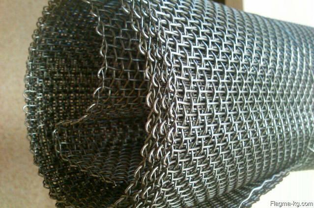 Рифленая нержавеющая сетка 10x10x2 мм 12Х18Н10Т ГОСТ 3826-82