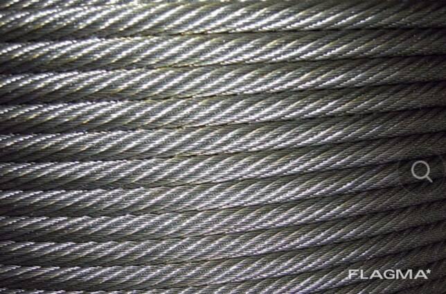 Трос канат стальной оцинкованный 22,5мм