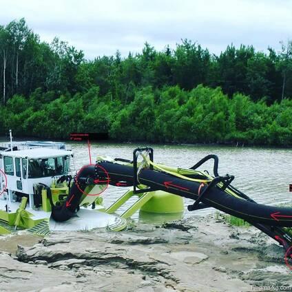 Земснаряд из Канады Амфибекс АЕ800Р.